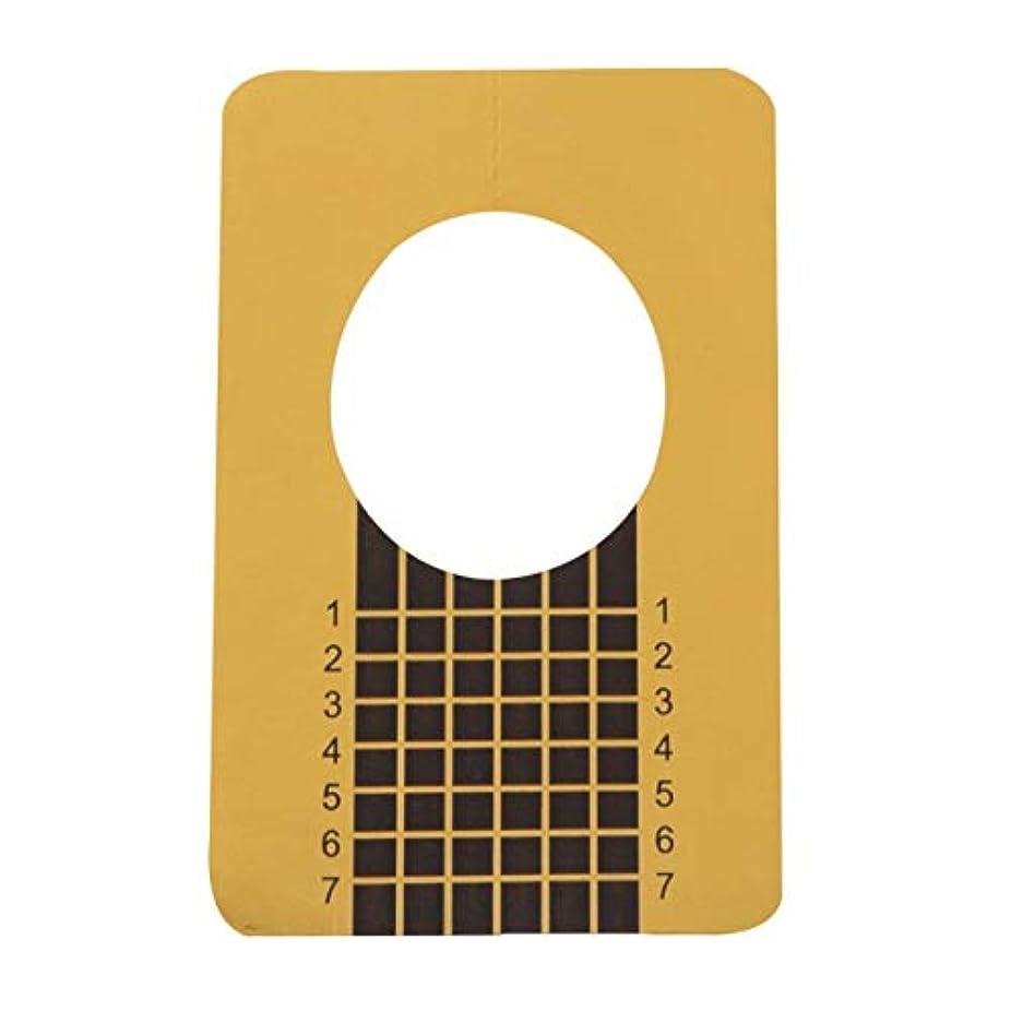 重要性恐怖少年100ピース/セットプロフェッショナルネイルツールのヒントネイルアートガイドフォームアクリルチップジェルエクステンションステッカーネイルポリッシュカールフォームゴールド(色:金色)