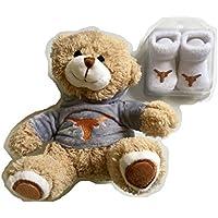 Texas Longhorns Baby Booties UT Hoodie Plush Bear Set Burnt Orange White Infant Socks