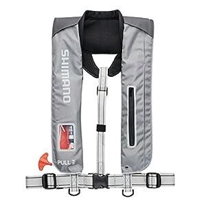 シマノ(SHIMANO) ライフジャケット サスペンダー 自動膨張 VF-051K 釣り 救命胴衣 ライトグレー (国土交通省認定品) フリーサイズ