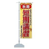 秋期短期講習 のぼり旗(レギュラー60x180cm 左チチ 標準)