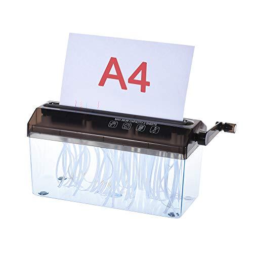 Aibecy ハンドシュレッダー A4 卓上シュレッダー 手動式 オフィス・学校・家庭用