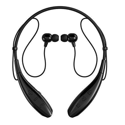 SoundPEATS(サウンドピーツ) Bluetooth イヤホン 高音質 ハンズフリー通話 ネックバンド型 CVC6.0ノイズキャンセリング機能搭載 防水 防滴 スポーツ仕様 ワイヤレス イヤホン 首掛け式 5色用意 【メーカー直販/1年保証付】 Q800 ブラック