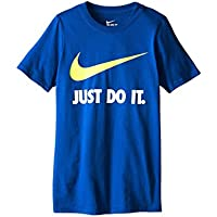 [NIKE(ナイキ)] キッズTシャツ JDI Swoosh Tee (Little Kids/Big Kids) Game Royal/Game Royal/Volt XS (6X Little Kids) (6-7歳) One Size
