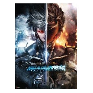Metal Gear Rising Revengeance/メタルギア ライジング リベンジェンス 雷電 Split Face ウォールスクロール【並行輸入】
