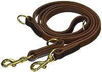 """ディーン&タイラー・ """"シンプルプレジャー"""":ヨーロッパ製の最高品質革素材使用の多機能な犬用リーシュ:ブラウン :真鍮製ハードウェア: 長さ約213cm 幅約2cm :毎日のご利用に最適です。ブラックもあります。"""