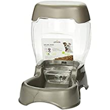 Petmate Cafe Feeder Pearl Tan 3 lb Food Storage Hopper Removable Lid Dog and Cat