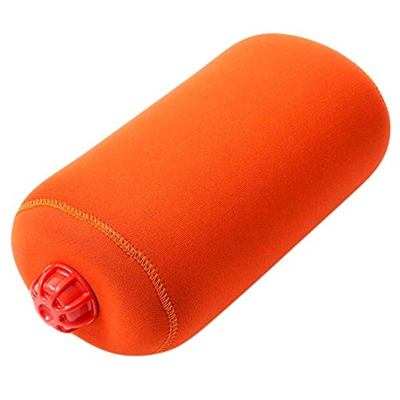 誘惑する排除する円形やわらか湯たんぽ 旅行用タイプ 特大 オレンジ