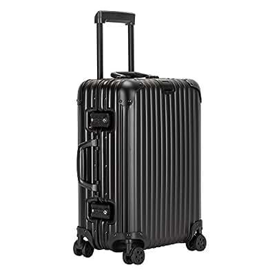クロース(Kroeus) スーツケース アルミ・マグネシウム合金 TSAロック 大型8輪キャスター 無段階キャリーバー キャリーケース 大容量 人気 旅 出張 ブラック