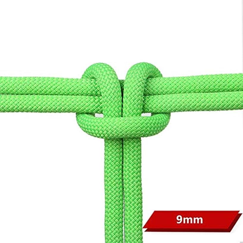 世界に死んだ全国内側ロープ(張り綱) スタティックロープクライミングロープ屋外登山ラペリングロープ空中作業用救助ロープ9mm(0.35in)/ 10.5mm(0.41in)グリーン (色 : 9MM, サイズ さいず : 200M(656FT))