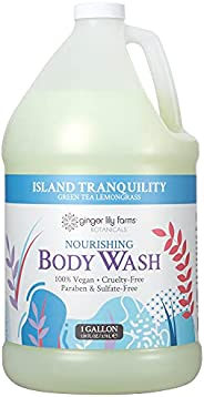 Ginger Lily Farms Botanicals Island Tranquility Nourishing Body Wash, Softens, Nourishes & Cleans Skin, Na
