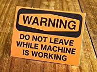 サイン&ラベルステッカー SIGNS & LABELS series 「警告、機械作動中は離れるな」_SC-MD019-SXW
