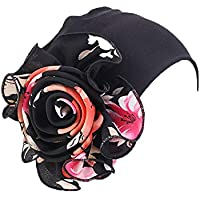 Women King Size Flower Stretchy Beanie Turban Bonnet Chemo Cap for Cancer Patients Ladies Bandanas African Hairband