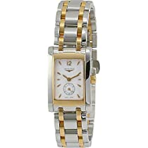 Longines Women's DolceVita Two Tone Steel Bracelet Steel Case Quartz White Dial Analog Watch L51555187