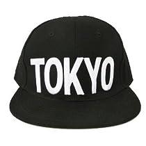 (ヨンユー) 4U ベースボールキャップ BBキャップ フラットバイザー oc-bbc FREE TOKYO(BLACK)