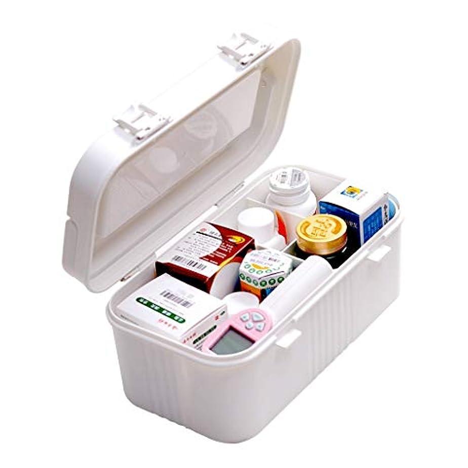 裕福な参照するバリーピルボックスPP 30.4 * 16 * 13.5 cm家庭用薬ボックス薬収納ボックス (色 : 白)