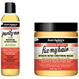 Aunt Jackie's Curly Hair Care DUO: 1 x Purify Me & 1 x Fix My Hair Intensive Masque