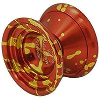 Magic Yoyo Original 2014 New K8 Leopard Head Series Aluminum Alloy Yoyo Toys with String Red & Gold [並行輸入品]