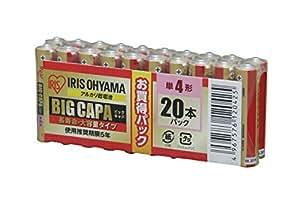 アイリスオーヤマ アルカリ乾電池 BIG CAPA 長寿命・大容量タイプ 単4形 20本パック LR03IRB-20S