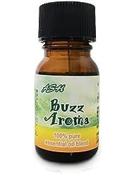 ASH Buzz Aroma(アンチモスキート) エッセンシャルオイルブレンド 10ml 虫除け対策 (真正ラベンダー レモングラス ティートゥリー ユーカリ)