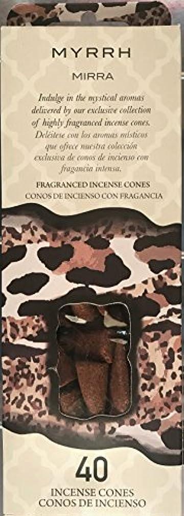 手錠タイル驚くばかりFlora Classique Myrth Fragranced Incense Cones、40 ct