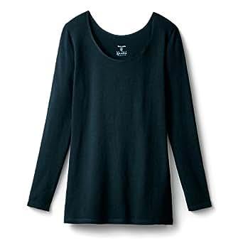 [ベルメゾン] あったか インナー ホットコット 綿混 長袖 C14793 レディース ブラック S