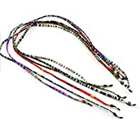 6 Pieces Sunglasses Neck Cord Eyeglass Strap Holder Mixed Colour for Sports Reading