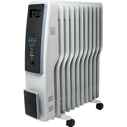 オイルヒーター S字型フィン11枚 【TOH-D1101C】 (マイコン式 デジタル表示タッチパネル) ※1200/700/500W 3段階切替式 (8~10畳用、サーモスタット自動温度調節機能付/24時間タイマー)