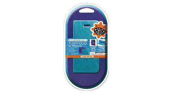 99ad5dae1a Amazon | TUNEWEAR TUNEFOLIO for iPhone 5c スカイブルー/パープル 【正規品】TUN-PH-000262 |  ケース・カバー 通販