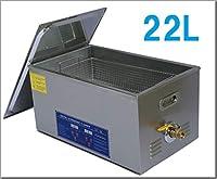 超音波洗浄器 22L デジタル ヒーター/タイマー付き 業務用クリーナー洗浄機 110V 国内電圧対応