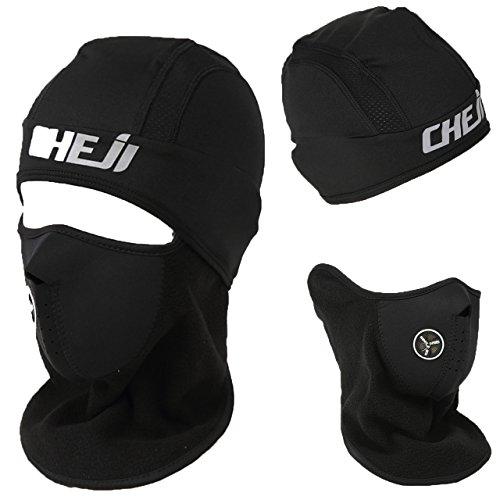 S4R(エスフォーアール) 防寒 秋冬 サイクル キャップ フェイスマスク バイクの防寒 顔全体をカバー -