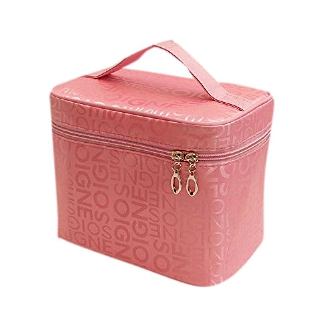 ながらアルネエアコンDRASAWEE(JP)コスメポーチ バニティ 化粧ポーチ 機能的 使いやすい コスメ 収納 コスメポーチ ダブルファスナー メイクポーチ かわいい 小物入れ ピンク