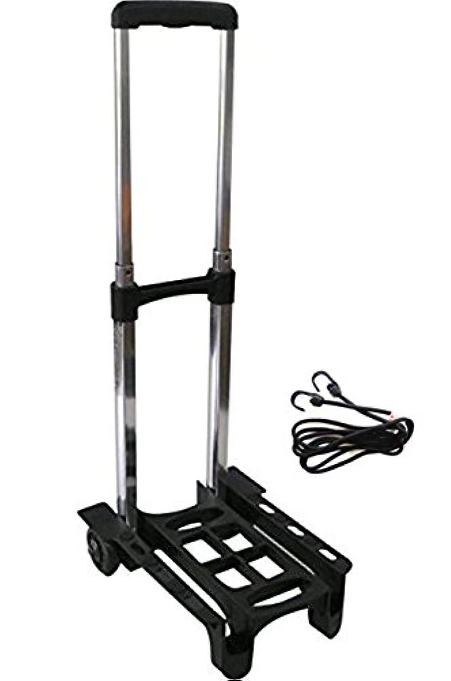 シマウマ州適切なVita 超軽量 1kg 耐荷重 30kg 折りたたみ ミニ 自立 2輪 キャリーカート (ゴムベルト 付き)
