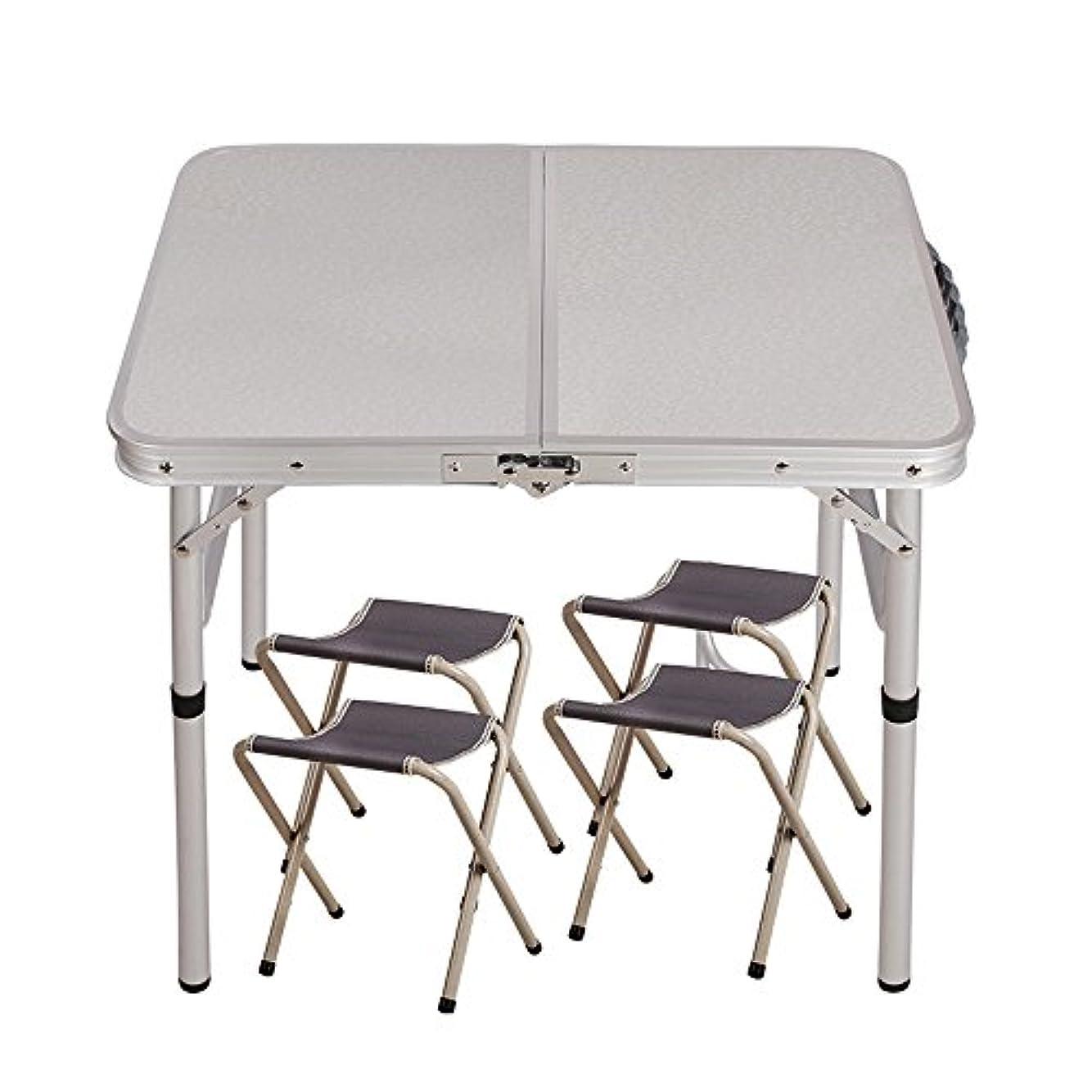 非難する旋律的発火する屋外折りたたみテーブル屋外ポータブルアルミ合金展示テーブルピクニック学習テーブルシンプルなデスク ( 設計 : 2 )