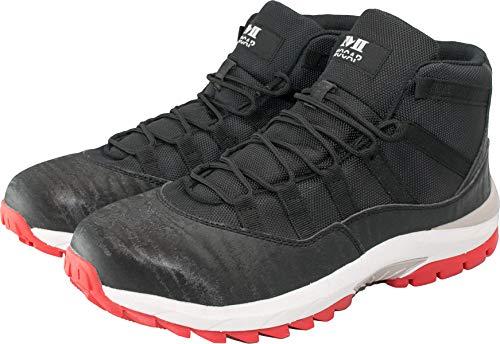 [モキャップ] 安全靴 スニーカー セーフティー シューズ 鉄芯入り CPM311 プロテクティブスニーカー ハイカット 作業靴 (26.5, BLACK)