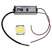 SODIAL(R) 50W ハイパワー白色LEDランプ+ ドライバアダプタ ドライバ電球 電設用部品