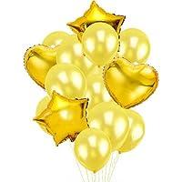 SWEET PARTY 【豪華26点セット ハート スター アルミ風船 + パールバルーン + リボン + ハンドポンプ】誕生日 結婚式 二次会 パーティー 飾りつけ (パープル)