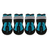 PETSOLA ブーツ シューズ ペット 犬 反射 レインシューズ スノーブーツ アンチスキッド ソール 足の保護 3サイズ - 青, S