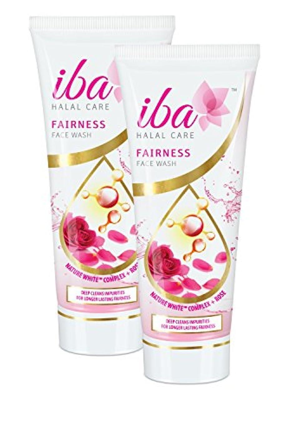 垂直リゾートフェードアウトIba Halal Care Fairness Face Wash, 100ml (Pack of 2)