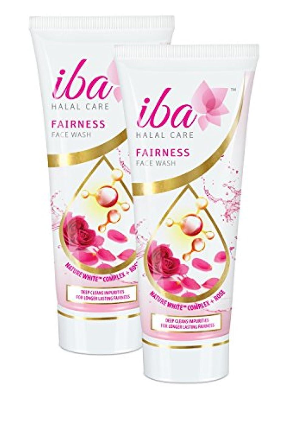 鋸歯状眉をひそめるフォーラムIba Halal Care Fairness Face Wash, 100ml (Pack of 2)