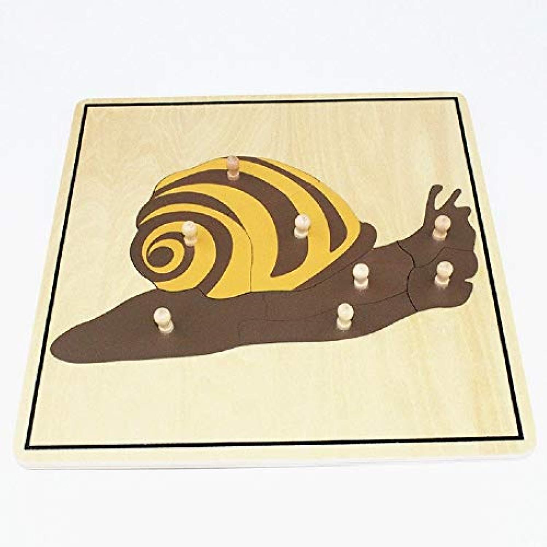 Zhenyu ベビートイ キッズ スネイルパズル 動物 子供用 木製 早期子供用 教育 就学前 トレーニング 学習