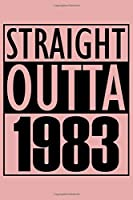 Straight Outta 1983 Notebook: Cornell Notes Journal - 6 x 9, 120 Pages, Gift For Music Lover, Rose Matte Finish
