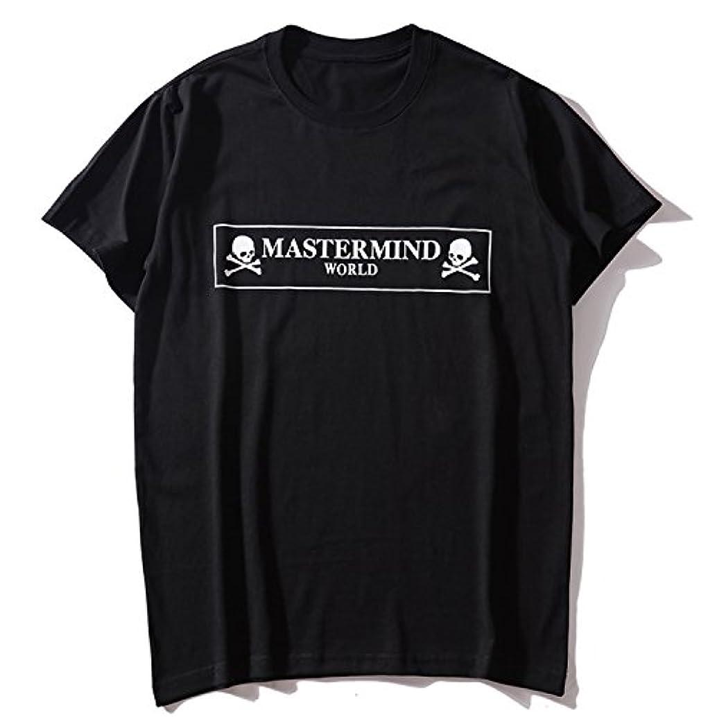 工業用宇宙飛行士スタイルmastermind JAPAN マスターマインドジャパン メンズ ファッション 百搭 髑髏 プリント カッコイイ Tシャツ 半袖 男女兼用