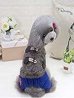 Sからの子犬の犬のためのXXLの新しい犬服の人気ナイトスタイルペット犬の四本足のコート2色の選択:チョコレート、S