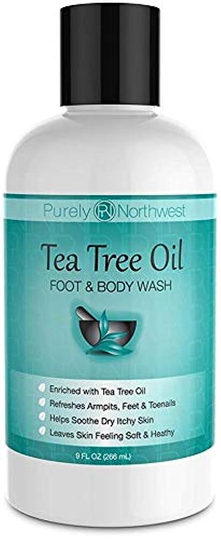 スムーズに全体に詐欺師Antifungal Tea Tree Oil Body Wash, Helps Athletes Foot, Ringworm, Toenail Fungus, Jock Itch, Acne, Eczema & Body...