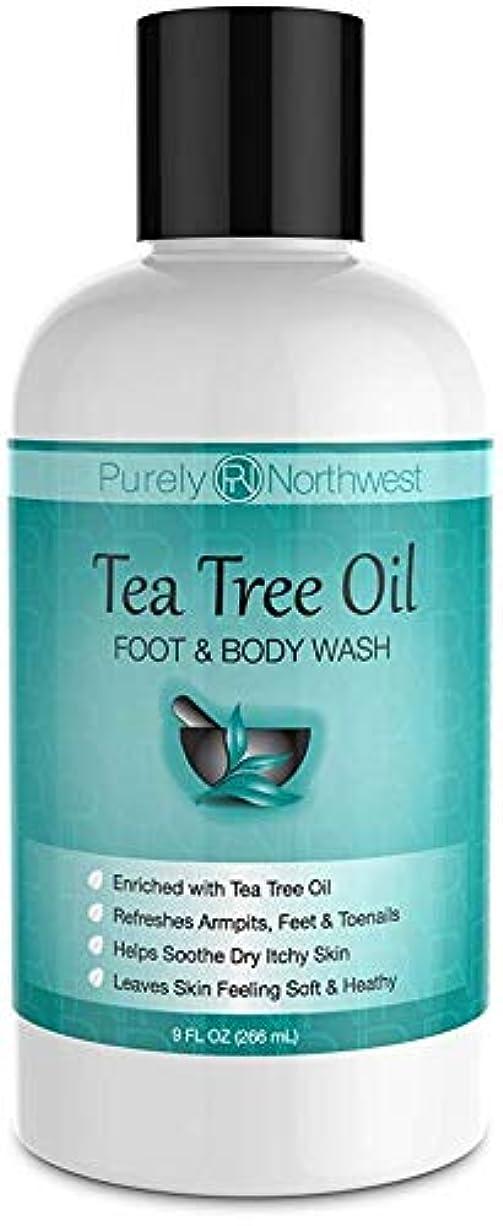 レンディション絶望ペアAntifungal Tea Tree Oil Body Wash, Helps Athletes Foot, Ringworm, Toenail Fungus, Jock Itch, Acne, Eczema & Body...
