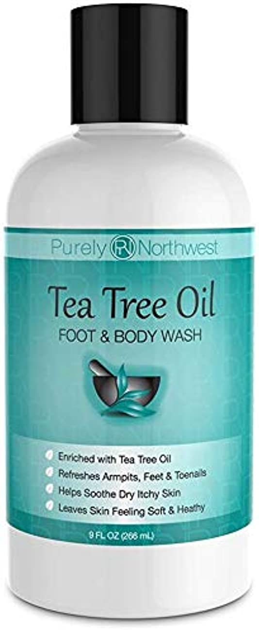 敬意を表して画家理論的Antifungal Tea Tree Oil Body Wash, Helps Athletes Foot, Ringworm, Toenail Fungus, Jock Itch, Acne, Eczema & Body...