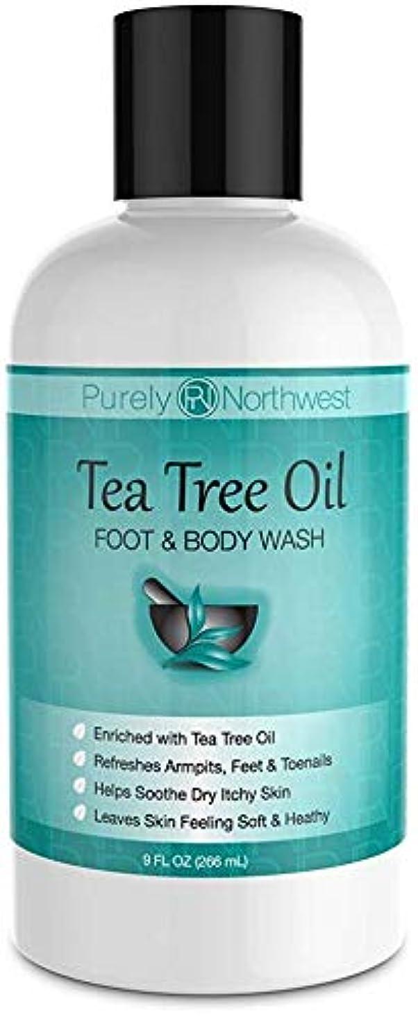 保護確認してくださいインタフェースAntifungal Tea Tree Oil Body Wash, Helps Athletes Foot, Ringworm, Toenail Fungus, Jock Itch, Acne, Eczema & Body Odor- Soothes Itching & Promotes Healthy Feet, Skin and Nails 9oz
