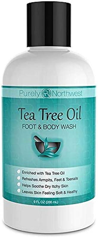 助言机壊すAntifungal Tea Tree Oil Body Wash, Helps Athletes Foot, Ringworm, Toenail Fungus, Jock Itch, Acne, Eczema & Body Odor- Soothes Itching & Promotes Healthy Feet, Skin and Nails 9oz