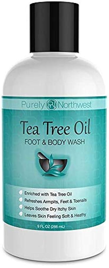 蜂笑マイナーAntifungal Tea Tree Oil Body Wash, Helps Athletes Foot, Ringworm, Toenail Fungus, Jock Itch, Acne, Eczema & Body...