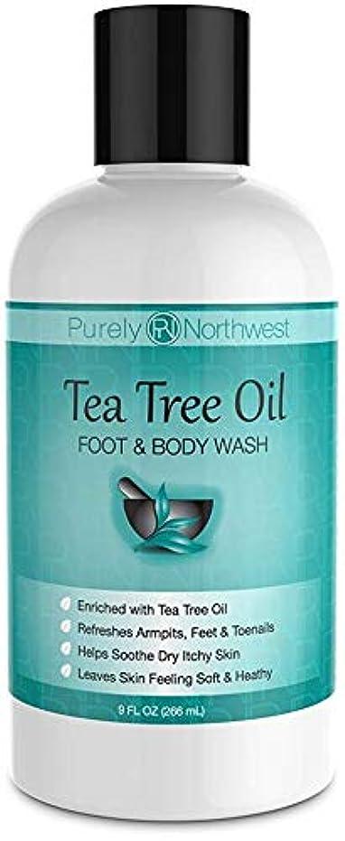 環境保護主義者祖先フェードAntifungal Tea Tree Oil Body Wash, Helps Athletes Foot, Ringworm, Toenail Fungus, Jock Itch, Acne, Eczema & Body...